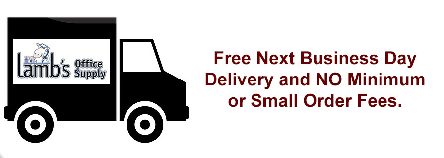 Free Next Business Day Delivery and NO Minimum or Small Order Fees.
