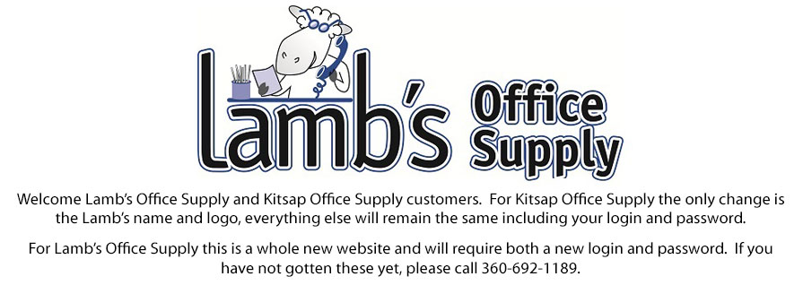 Welcome Lamb's Office Supply and Kitsap Office Supply customers