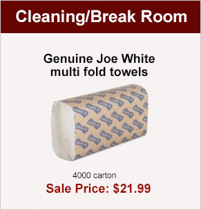 Genuine Joe White multi fold towels 4000 carton, Sale Price $21.99