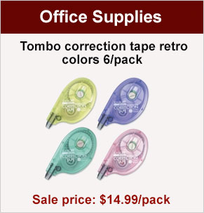 Tombo correction tape retro colors 6/pack, sale price $14.99/pack