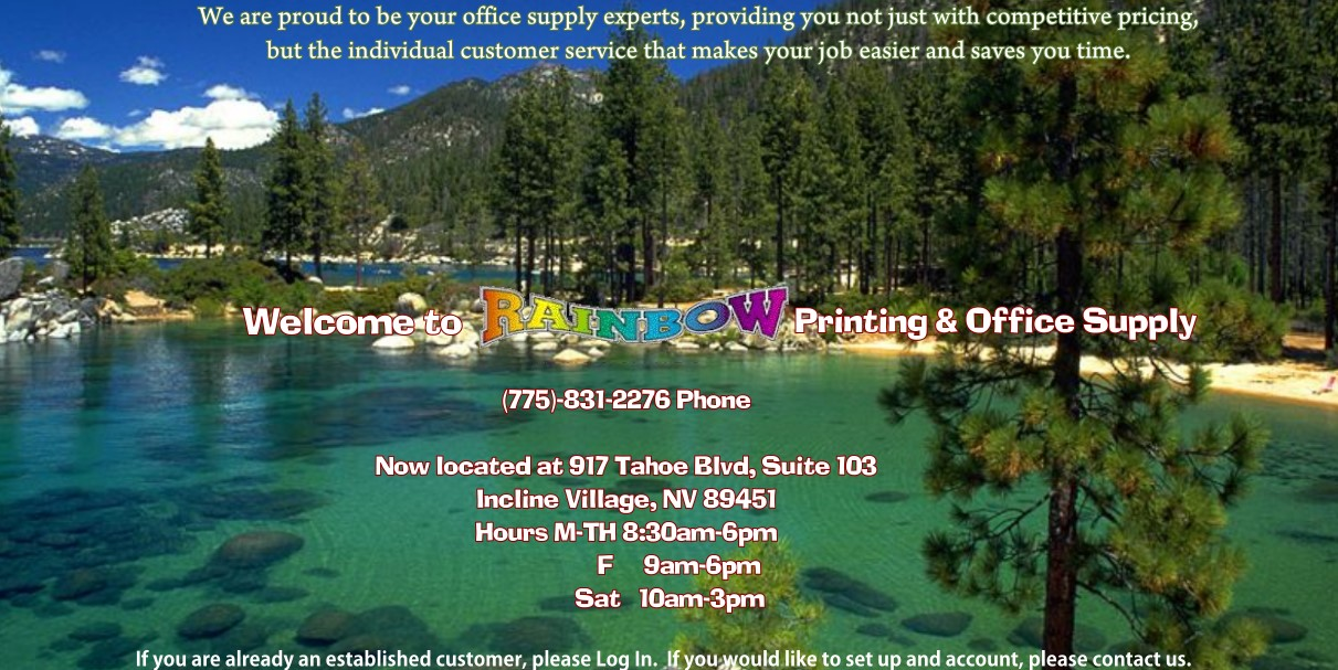 Rainbowprinting rainbow has been providing printing copying and office supply services to the incline village and surrounding areas for over 23 years malvernweather Choice Image