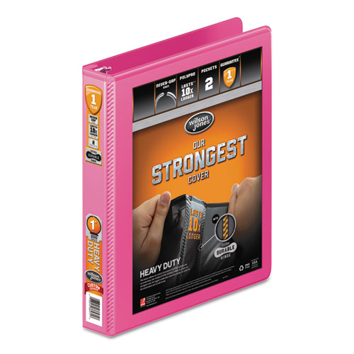 Heavy Duty Round Ring View Binder with Extra Durable Hinge